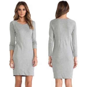 James Perse Grey Raglan Sweatshirt Dress